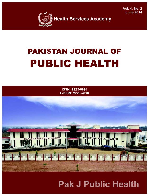 View Vol. 4 No. 2 (2014): Pakistan Journal of Public Health