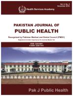 View Vol. 6 No. 4 (2016): Pakistan Journal of Public Health