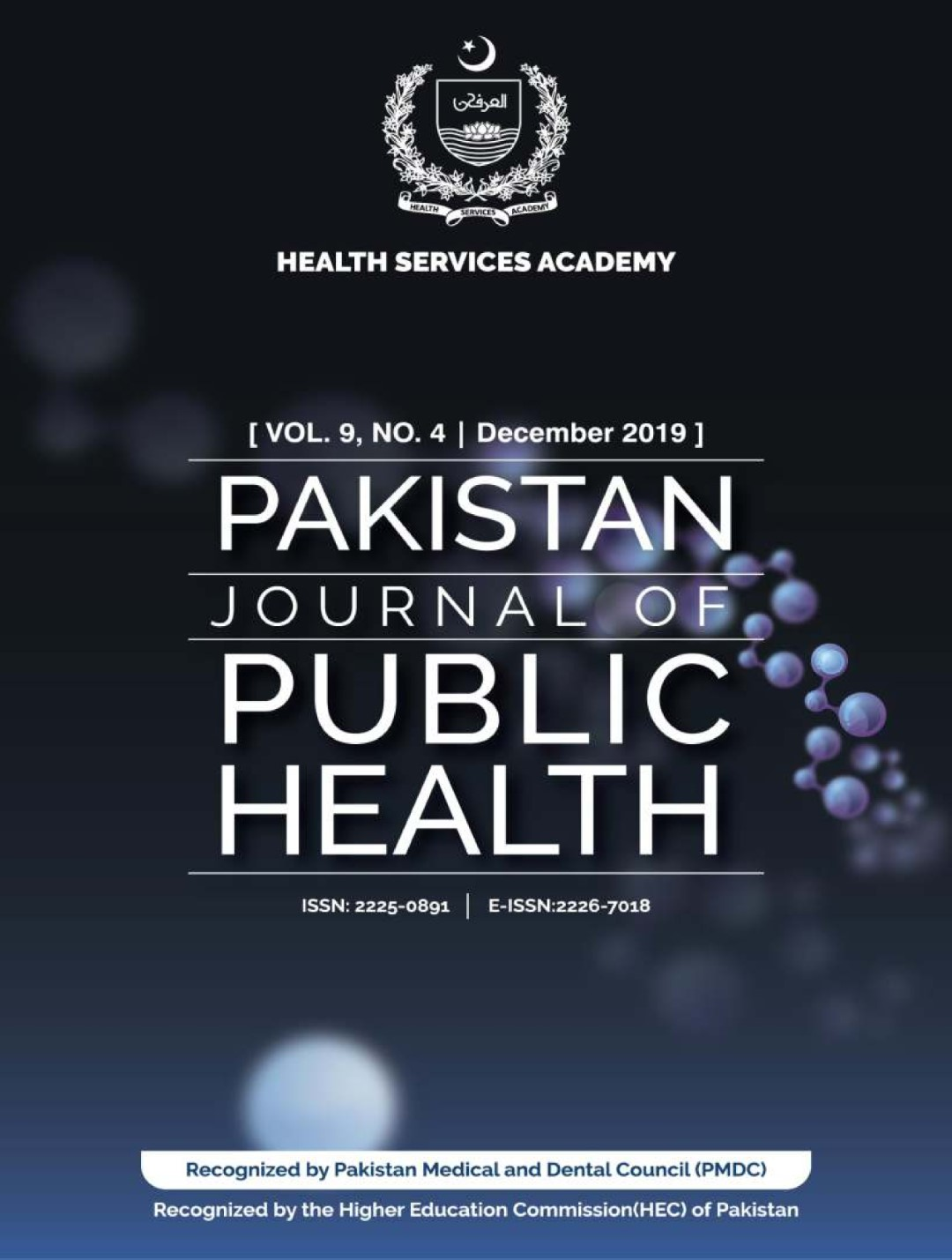 View Vol. 9 No. 4 (2019): Pakistan Journal of Public Health