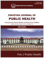 View Vol. 8 No. 1 (2018): Pakistan Journal of Public Health